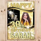 Personalised 18th 21st 30th 40th 50th 60 Happy Birthday PHOTO Poster Banner N58