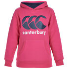 CANTERBURY Girls Kids Classic OTH Over the Head Hoody Beetroot Purple Navy