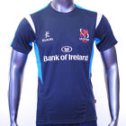 Ulster Rugby Gym Cool Training Tee 2014-15 Charcoal Cyan 100% Polyester T Shirt