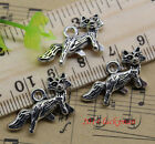 8/20/60/100pcs retro Jewelry Making DIY Lovely fox alloy charms pendant 24x13 mm