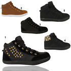 Ladies High Top Trainers Womens Sports Style Ankle Boots Shoes Size 3 4 5 6 7 8