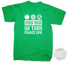 Northern Ireland On Tour France 2016 Euro Champs Football T-Shirt In All Sizes