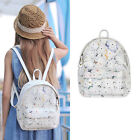 Women's Cotton Lace Small Backpack Rucksack Travel Casual Purse White Cute bag