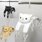 Cat Hanger Clothespins 10 pinches / White Black Tiger Cat / Laundry Goods Kawaii