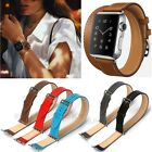 Double Tour Long Strap Genuine Leather Watch Band For Apple Watch 38mm 42mm