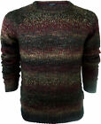 Mens True Rock Chunky Knit Jumper Sweater Twist Knitted Crew Neck Soft Pullover