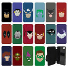DC Marvel superhero comic Minimal Flip Wallet cover case for Apple iPhone No.22