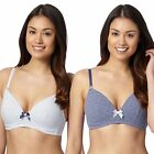 Debenhams Womens Pack Of Two Blue Padded Non Wired Bras From Debenhams
