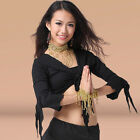 New Women's Belly Dancing Costumes Crop Top Long Sleeves 9Colors