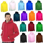 Mens Hoodie Size XS to 4XL Premium Plain Hooded Sweatshirt Loose Fit