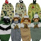 Carrier Bag Holder, Tidy, 3D,Quilted, Teddy Chef, Supermarket Bag, Shopping Bag,
