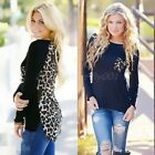 Sexy Leopard Printed Women Long Sleeve Chiffon T-Shirt Top Fashion Blouse Shirt