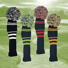 Black & White, Green, Orange or  Red Woolen POM POM Golf Driver Headcover