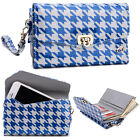 Kroo Patterned Universal Pocketbook Wristlet Wallet Case w/ Credit Card Slot