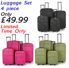 Lightweight Luggage Travel Suitcase Large Trolley Cabin Case Wheeled Set of 4
