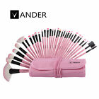Makeup Brush Set Professional Soft Cosmetic Eyebrow Shadow Brushes Kit Case Gift