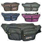 Mens / Ladies Organiser Bumbag with 7 Compartments / Black, Brown, Purple, Navy