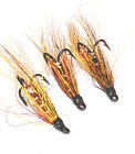 Willie Gunn x 3 salmon flies - doubles and trebles sizes 8, 10 and 12