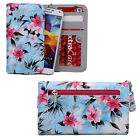 Hawaiian Floral Wristlet Wallet w/ Phone Compartment for Acer, Alcatel, HTC
