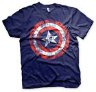 Captain America Shield Schild Distressed Marvel Avengers Männer Mens T-Shirt