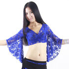 Free Shipping Wholesale Lace Belly Dance Costume Top Lace Butterfly Sleeves