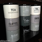 retro ceramic Stacking Stackable Tea Coffee Sugar Kitchen Storage Canister jars