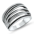 Women's Strand Bar Fashion Cute Ring New .925 Sterling Silver Band Sizes 4-12