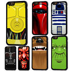 Star Wars Darth Vader R2D2 Rubber Phone Case For iPhone 5 6/6s 7 8 X Plus Cover
