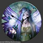 34CM DIAMETER ANNE STOKES CLOCK - MYSTIC AURA, ONCE UPON A TIME, SPIRIT GUIDE