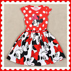 UK889 Kids Red Disney Minnie Princess Costume Outfit Girls Dresses Age 1 2 3 4 5