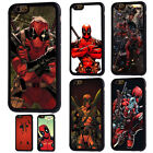 Deadpool Marvel Comics Soft Rubber Phone Case For iPhone 5/5s 5c 6/6s 7 8 X Plus