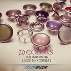 SIZE 16 LARGE | Colour Decorative Pearl Snaps Fastener Pearlized Snap Buttons