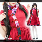 lolita dream of red chamber chinese knot qipao bubble sleeve dress JM3025