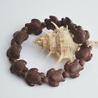 Handmade Howlite Stone Tortoise Beads Elastic Stretchy Bracelet Lovely Bangle 7""