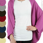 Ladies Batwing Top Long Sleeve Women Cardigan Sweater Ponchos Loose Cape Clothes