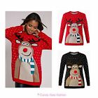 LADIES XMAS CHRISTMAS NOVELTY UNISEX RETRO POMPOM RUDOLPH JUMPER SWEATER