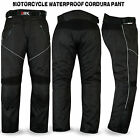 Motorcycle Motorbike Waterproof Cordura Textile Trousers Pants Armor Black