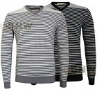 CALVIN KLEIN MEN'S V NECK JUMPER/ SWEATER COTTON BLACK, GREY ALL SIZES Was £85