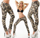 Sexy New Women's Stretchy Camouflage Jeans Trousers Slim Combat Style E 573