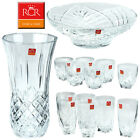 RCR ITALIAN GLASS CRYSTAL CRYSTALITE LARGE GLASSES GLASSWARE VASE BOWL DIAMANTE