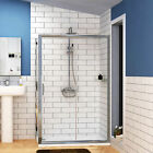 Easy Walk in Glass Sliding Door Shower Enclosure Corner Cubicle Tray 1400x760mm