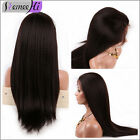 soft yaki straight 100% Brizilian remy human hair full/front lace wig baby hair