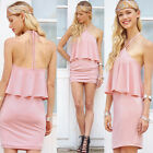 UK WOMENS SLIM SEXY BANDAGE BODYCON DRESS LADIES PARTY PENCIL DRESS SIZE 6-14