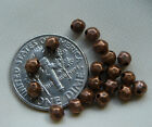 Silver or copper Nugget beads 3 mm choice of silver or copper bag of 50 beads
