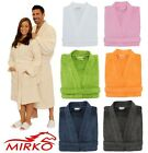 New Mens Womens 100% Cotton Terry Cloth Kimono Bathrobe 7 Colors MIRKO Spa Robe