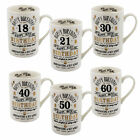 Vintage Signography Range Birthday Mug - 18th 21st 30th 40th 50th or 60th