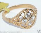 9ct Gold Lady's filligree stone set ring Jewellery Company