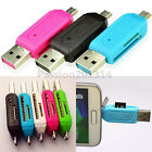 2-in-1 OTG SD Micro USB 2.0 T-Flash Memory Card Reader Adapter For PC Samsung