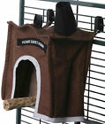 AVIAN HAVEN HUTS- 4 sizes - Designer hang over the perch snuggly / cozy house