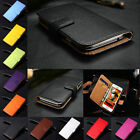Genuine Leather Flip Wallet Case Cover For Samsung Galaxy S8 Note 5 Card Holder